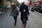 People out on Oxford Street which is the busiest shopping area  in London, England, United Kingdom.