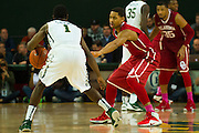 WACO, TX - JANUARY 24: Isaiah Cousins #11 of the Oklahoma Sooners defends against Kenny Chery #1 of the Baylor Bears on January 24, 2015 at the Ferrell Center in Waco, Texas.  (Photo by Cooper Neill/Getty Images) *** Local Caption *** Isaiah Cousins
