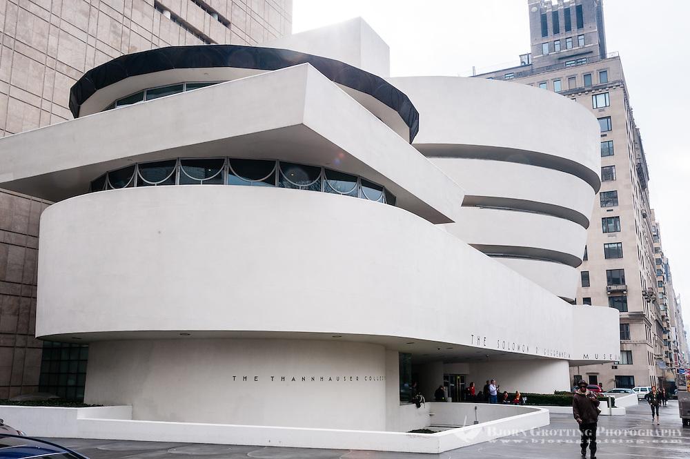 US, New York City. The Solomon R. Guggenheim Museum on the Upper East Side of Manhattan.