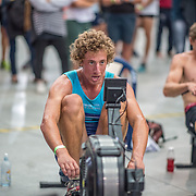 Cameron Crampton 5000m Heavyweight 5K race 10:30am<br /> <br /> <br /> www.rowingcelebration.com Competing on Concept 2 ergometers at the 2018 NZ Indoor Rowing Championships. Avanti Drome, Cambridge,  Saturday 24 November 2018 © Copyright photo Steve McArthur / @RowingCelebration