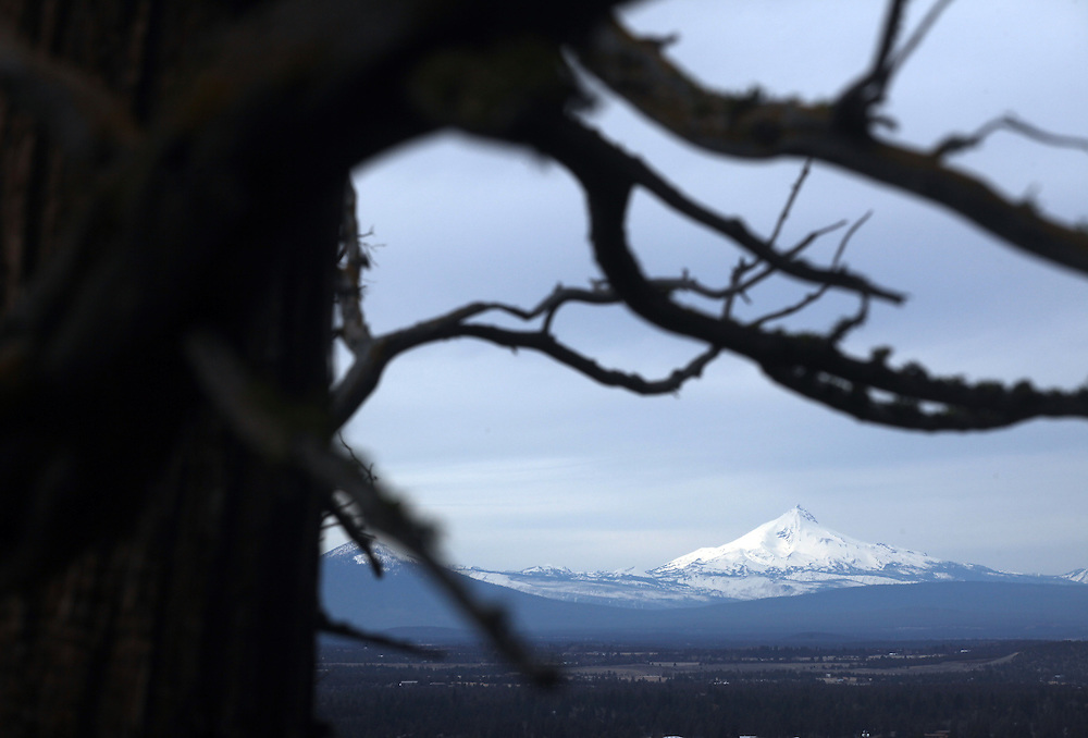 Mt. Jefferson, viewed from Pilot Butte in Bend, where locals often take lunch break hikes. Craft beer permeates the culture in Central Oregon city of Bend, with 10 breweries serving pints, growlers and kegs to a community of less than 90,000. Photographed Wednesday, April 25, 2012. Assignment ID 30125094A