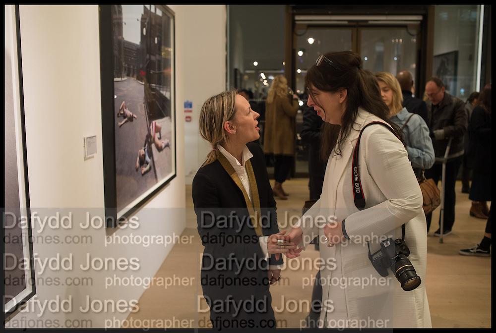 LOU PROUD; ANNE BERNECKER  Steven Meisel: Role Play - private view Phillips,, Berkeley Sq. London. 16 December 2014.