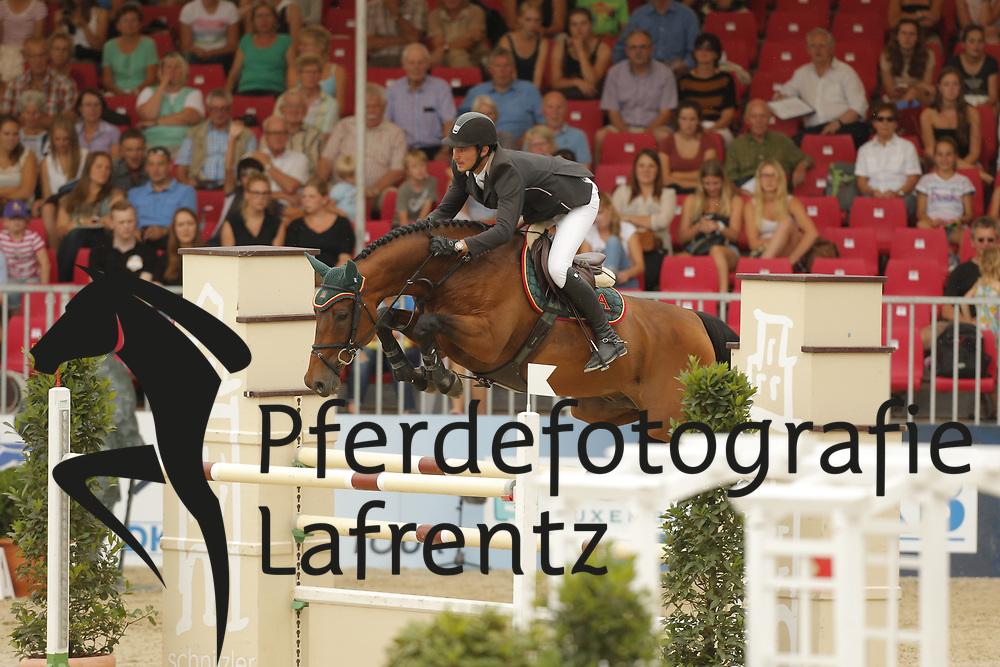 Guerdat, Steve, Albfuehren´s Memphis<br /> Münster - Turnier der Sieger<br /> Grosse Tour<br /> © www.sportfotos-lafrentz.de/ Stefan Lafrentz