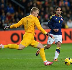 19-11-2013 VOETBAL: NEDERLAND - COLOMBIA: AMSTERDAM<br /> Nederland speelt met 0-0 gelijk tegen Colombia / Radamo Falcao Garcia<br /> ©2013-FotoHoogendoorn.nl