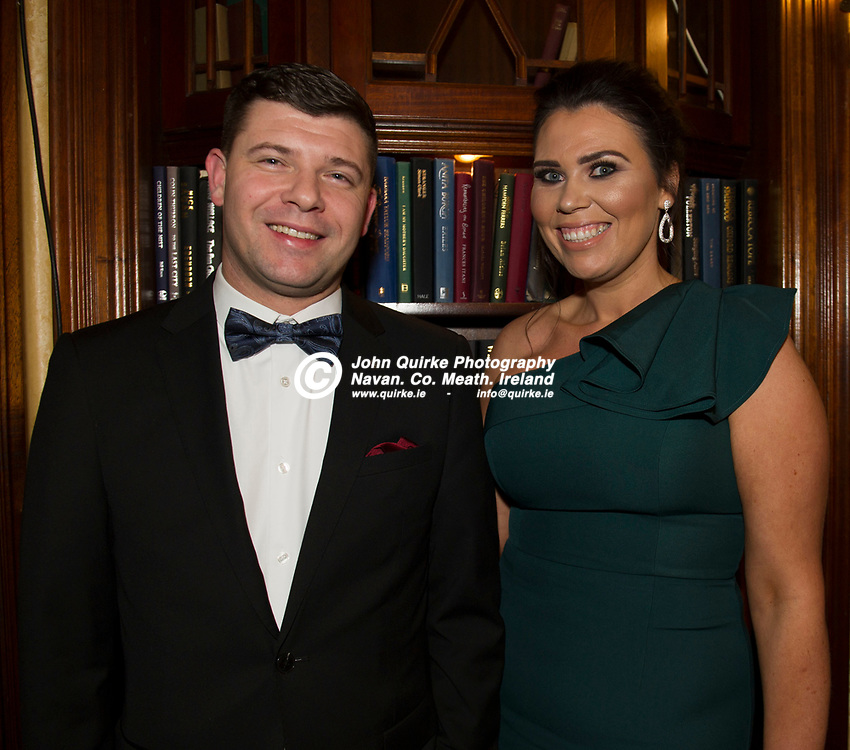 24-11-18. Meath Business and Tourism Awards 2018 at the Newgrange Hotel, Navan.<br /> Lucas Boborio and Cassandra Conway from Johnstown Estate.<br /> John Quirke / www.quirke.ie<br /> ©John Quirke Photography, Unit 17, Blackcastle Shopping Cte. Navan. Co. Meath. 046-9079044 / 087-2579454.