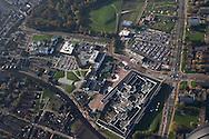 Luchtfoto van Leeuwarder Kenniscampus aan de Rengerslaan