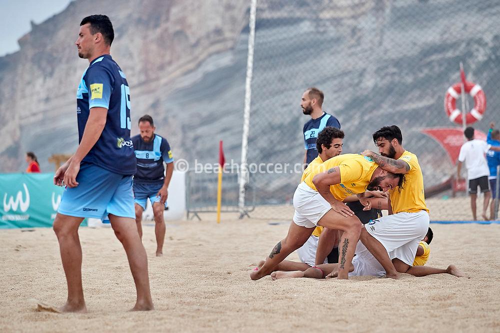 NAZARE, PORTUGAL - JUNE 2: Hugo Almeida of AD Buarcos 2017 during the Euro Winners Challenge Nazaré 2019 at Nazaré Beach on June 2, 2019 in Nazaré, Portugal. (Photo by Jose M. Alvarez)