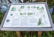 Maud Heath's Causeway information board notice, Kellayways bridge, Wiltshire, England, UK