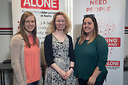 NO FEE PICTURES                                                                                                                                                30/5/19 Community groups from across Ireland attended the Befriending Network Ireland (BNI) seminar in Dublin's Guinness Enterprise Centre on Thursday, which discussed the development of a sustainable community sector. Pictured are Selena Grace, Laois Partnership Company, Caroline Malone, Alone and Andrea Delaney, Laois Partnership Company.Picture: Arthur Carron