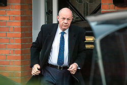 """© Licensed to London News Pictures. 18/12/2017. London, UK. First Secretary of State DAMIAN GREEN seen leaving his London home on December 18, 2017. The findings of an inquiry in to the conduct of MP Damian Green are expected to be released before parliament breaks for Christmas later this week. Former police officers alleged that """"extreme"""" pornography was found on Damian Green's work computer during a police raid in 2018. Green was already under investigation for allegedly propositioning former Tory activist, Kate Maltby. Photo credit: Ben Cawthra/LNP"""