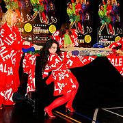 NLD/Amsterdam/20100531 - 1e Repetitiedag Crazy Shopping de Musical, Miranda van Kralingen, Casey Fransisco, Calolina Mout en Antje Monteiro