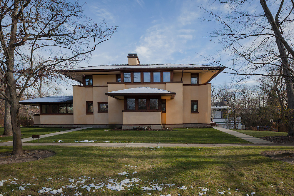 The Mary M.W. Adams House<br /> 1923 Lake Ave, Highland Park, Illinois USA was designed by Frank Lloyd Wright Architect in this photo ©2016 by Wayne Cable, Chicago Architectural Photographer.