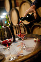wine tasting at Domaine Digioia-Royer, Chambolle-Musigny, Cote de Nuits St. George, Burgundy.Michel Digioia-Royer