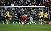 Fotball<br /> England 2004/2005<br /> Foto: SBI/Digitalsport<br /> NORWAY ONLY<br /> <br /> Middlesbrough v Liverpool<br /> Barclays Premiership, Riverside Stadium, Middlesbrough 20/11/2004<br /> <br /> Middlesbrough's Chris Riggott (C) wheels away after scoring his team's first goal.