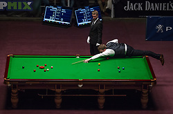 May 19, 2018 - Budapest, Hungary - Shaun Murphy Great Brittain of plays a shot against Jimmy White of Great Brittain during the III. Hungarian Snooker Gala on May 19, 2018 in Budapest, Hungary. (Credit Image: © Robert Szaniszlo/NurPhoto via ZUMA Press)