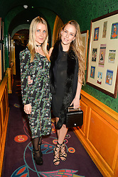 Left to right, EKATERINA MALYSHEVA and HUM FLEMING at the 2nd Bright Young Things Back In London party held at Annabel's, 44 Berkeley Square, London on 11th February 2016.