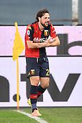 """Foto LaPresse - Tano Pecoraro<br /> 16 12 2020 Genova - (Italia)<br /> Sport Calcio<br /> Genoa vs Milan<br /> Campionato di Calcio Serie A TIM 2020/2021 - Stadio """"Luigi Ferraris""""<br /> nella foto: destro mattia esulta dopo il gol del 1-0<br /> <br /> Photo LaPresse - Tano Pecoraro<br /> 16 December 2020 City Genova - (Italy)<br /> Sport Soccer<br /> Genoa vs Milan<br /> Italian Football Championship League A TIM 2020/2021 - """"Luigi Ferraris"""" Stadium<br /> in the pic: destro mattia celebrates after scoring goal 1-0"""