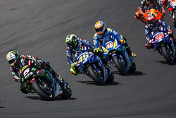 October 28, 2018 - Melbourne, Victoria, AUSTRALIE - JOHANN ZARCO - FRENCH - MONSTER YAMAHA TECH 3 - YAMAHA.VALENTINO ROSSI - ITALIAN - MOVISTAR YAMAHA MotoGP - YAMAHA.ALEX RINS - SPANISH - TEAM SUZUKI ECSTAR - SUZUKI.MAVERICK VINALES - SPANISH - MOVISTAR YAMAHA MotoGP - YAMAHA (Credit Image: © Panoramic via ZUMA Press)