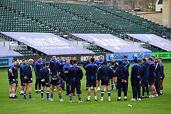 The Bath Rugby squad huddle together prior to the match - Mandatory byline: Patrick Khachfe/JMP - 07966 386802 - 21/11/2020 - RUGBY UNION - The Recreation Ground - Bath, England - Bath Rugby v Newcastle Falcons - Gallagher Premiership