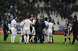 March 18, 2018 - Marseille, France - Bagarre - Tension entre joueurs -  fin de match (Credit Image: © Panoramic via ZUMA Press)
