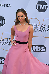 January 27, 2019 - Los Angeles, California, U.S - BRITT BARON during silver carpet arrivals for the 25th Annual Screen Actors Guild Awards, held at The Shrine Expo Hall. (Credit Image: © Kevin Sullivan via ZUMA Wire)