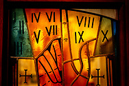 Stained glass depicting the Ten Commandments on Saturday, Jan. 16, 2021, at Zion Lutheran Church, Fort Wayne, Indiana. LCMS Communications/Erik M. Lunsford
