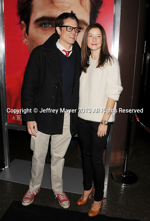 LOS ANGELES, CA- DECEMBER 12: Actor Johnny Knoxville and Naomi Nelson arrive at the 'Her' Los Angeles Premiere - Arrivals at Directors Guild Of America on December 12, 2013 in Los Angeles, California.
