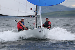 The Flying Dutchman World Championships,  Largs 2014. First days racing in breezy conditions on the Clyde. <br /> <br /> The former Olympic class has attract 40 worldwide competitors to Scotland to compete. <br /> GER88, Kay-Uwe Ludtke, Kai Schafers<br /> <br /> PIctures Marc Turner / PFM Pictures