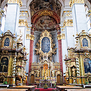 Altar and interior of St. Giles Cathedral, Prague, Czech Republic