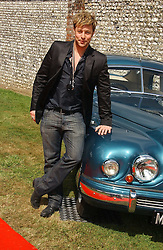"""DUNCAN JAMES at the Goodwood Festival of Speed on 9th July 2006.  Cartier sponsored the """"Style Et Luxe' for vintage cars on the final day of this annual event at Goodwood House, West Sussex and hosted a lunch.<br /><br />NON EXCLUSIVE - WORLD RIGHTS"""