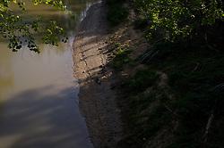 Buffalo Bayou bank work by Harris County Flood Control between Sabine Bridge and Waugh Drive.