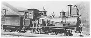 """RGS Shay locomotive #269 """"Guston"""" originally used on the Silverton Railroad.  D&RGW inventory lists this as RGS #34.<br /> RGS  Silverton, CO  Taken by McClure, Louis Charles - spring 1892<br /> In book """"RGS Story, The Vol. IX: Over the Bridges? Grady to Durango"""" page 268<br /> See RD155-035 for enlargement.<br /> Also in """"Silver San Juan"""", p. 72."""