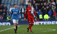 Football - 2016 / 2017 Scottish League Cup - Semi-Final - Celtic vs. Rangers<br /> <br /> Matt Gilks and Andy Halliday of Rangers at the final whistle at Hampden Park.<br /> <br /> COLORSPORT/LYNNE CAMERON