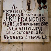 The Chapel of Remembrance (Chapelle des Souvenirs ) in Rancourt, Picardy build by the dy Bos family as a commemoration to their son Jean and his comrades who were killed there in September 1916. The National Cemetery of Rancourt is the largest French cemetery in Somme with 8566 graves.