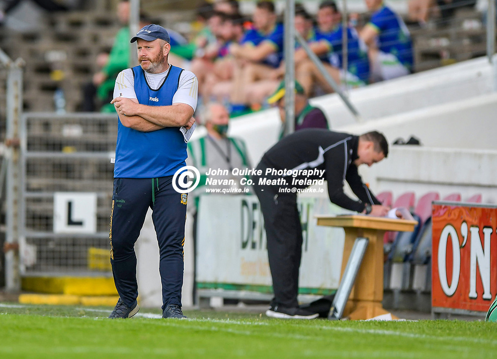 Meath hurling manager Nick Weir,  during the Meath v Kerry,  Joe McDonagh Cup match at Pairc Tailteann, Navan.<br /> <br /> Photo: GERRY SHANAHAN-WWW.QUIRKE.IE<br /> <br /> 10-07-2021