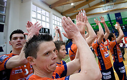 Alen Sket, Matija Plesko of ACH at last final volleyball match of 1.DOL Radenska Classic between OK ACH Volley and Salonit Anhovo, on April 21, 2009, in Arena SGS Radovljica, Slovenia. ACH Volley won the match 3:0 and became Slovenian Champion. (Photo by Vid Ponikvar / Sportida)