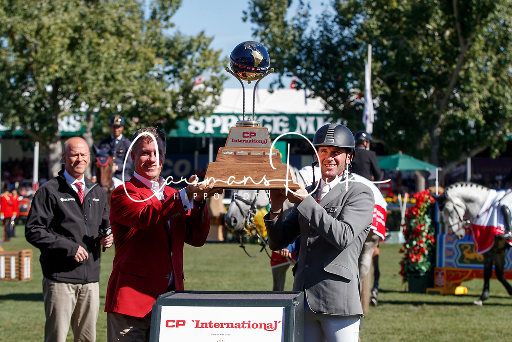 Weishaupt Philipp, GER<br /> Spruce Meadows Masters - Calgary 2017<br /> © Hippo Foto - Dirk Caremans<br /> 10/09/2017, Weishaupt Philipp, GER, Keith Creel,<br /> President & Chief Executive Officer CP<br /> Spruce Meadows Masters - Calgary 2017<br /> © Hippo Foto - Dirk Caremans<br /> 10/09/2017