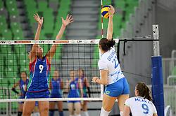 Tina Grudina of Slovenia during friendly volleyball match between Slovenia and Azerbaijan, on August 17, 2017 in SRC Stozice, Ljubljana, Slovenia. Photo by Matic Klansek Velej / Sportida