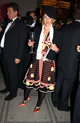Fasion designer ALICE TEMPERLEY at the 2004 British Fashion Awards held at Thhe V&A museum, London on 2nd November 2004.<br />