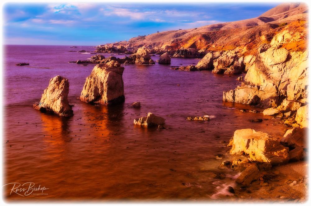 Sea stacks and rocky coastline at Soberanes Point, Garrapata State Park, Big Sur, California