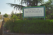 the Domaine de Montgilet of Victor and Vincent Lebreton, the entrance and the winery in the background, Maine et Loire France Anjou