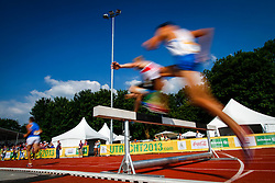 Young runners competing in 2000m steeplechase at 12th European Youth Olympic Summer Festival in Utrecht, Netherlands on July 15, 2013 in Utrecht, Netherland. (Photo by Peter Kastelic / Sportida.com)