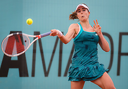 May 7, 2019 - Madrid, MADRID, SPAIN - Alize Cornet of France in action during her second-round match at the 2019 Mutua Madrid Open WTA Premier Mandatory tennis tournament (Credit Image: © AFP7 via ZUMA Wire)