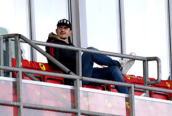 Manchester United's Harry Maguire watches from the stands during the UEFA Youth League, Group F match at Leigh Sports Village, Manchester. Picture date: Wednesday September 29, 2021.