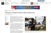"""In Honduras, Going From Door to Door to Prosecutors"", The New York Times, Mexico, March 4, 2014. Photographs by Rodrigo Cruz."