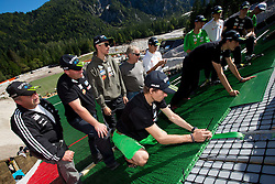Robert Kranjec at media day of Slovenian Ski jumping team during construction of two new 120m and 100m hills in Planica on September 18, 2012 in Planica, Slovenia. (Photo By Vid Ponikvar / Sportida)