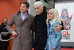 HOLLYWOOD, CALIFORNIA - JANUARY 07: Bradley Cooper, Lady Gaga  attend Sam Elliott's hand and footprint ceremony at TCL Chinese Theatre on January 07, 2019 in Hollywood, California. <br /><br />7 January 2019.<br /><br />Please byline: Quarterflash/Vantagenews.com
