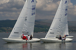 Day 3 Scottish Series, SAILING, Scotland.<br /> <br /> GBR 1175, Etchells, Hero, RGYC and IRL 972, Lock n Load, RGYC<br /> <br /> The Scottish Series, hosted by the Clyde Cruising Club is an annual series of races for sailing yachts held each spring. Normally held in Loch Fyne the event moved to three Clyde locations due to current restrictions. <br /> <br /> Light winds did not deter the racing taking place at East Patch, Inverkip and off Largs over the bank holiday weekend 28-30 May. <br /> <br /> Image Credit : Marc Turner / CCC