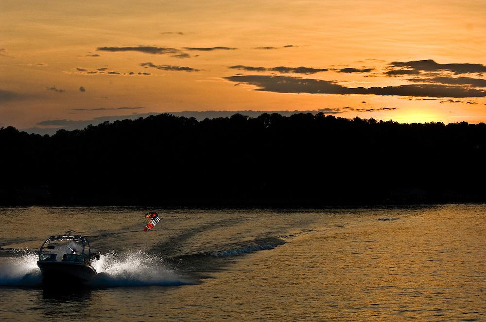 Terry Bailey shot for Unleashed Wakeboard Magazine in Lake Gaston, North Carolina.