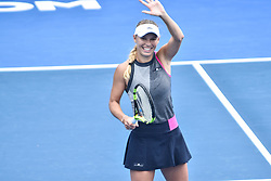 January 3, 2018 - Auckland, New Zealand - Caroline Wozniacki of Denmark waves to the crowds after wining  her match against Petra Martic of  Croatia during Day Three of the WTA Women's Tournament at ASB Centre Count in Auckland. The world No 3 cruises into the quarterfinals with a 6-2 6-2 win over P. Martic. (Credit Image: © Shirley Kwok/Pacific Press via ZUMA Wire)